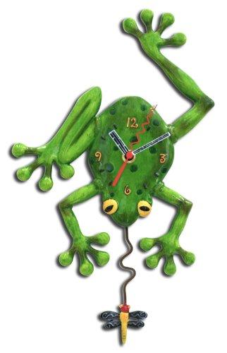 cutest frog shaped wall clocks