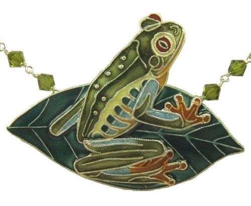 frog on leaf necklace