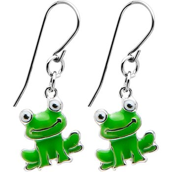 cutest frog earrings