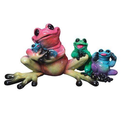 cute frog family figurine