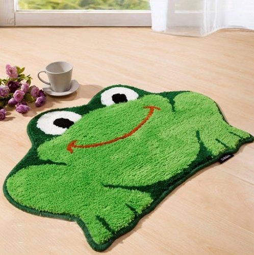cute frog shape rugs