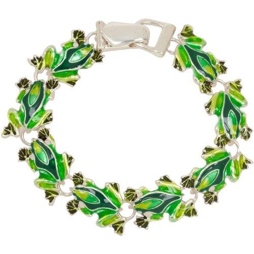 Enamel Frog Theme Charm Bracelet