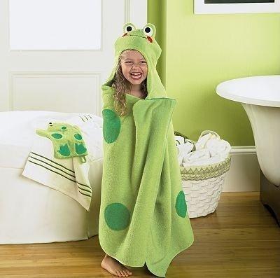 Frog Hooded Bath Towel