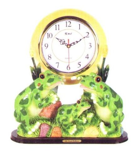 FROG 3D Shelf Mantle Clock