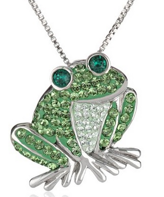 fun frog pendant necklace
