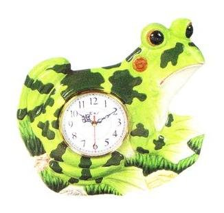 large frog shaped wall clock