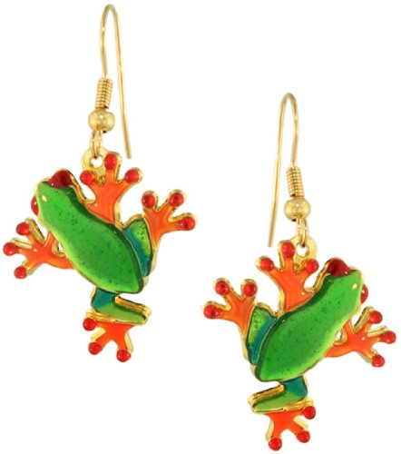 cute tree frog earrings