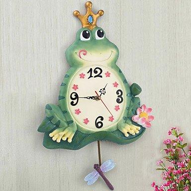 Cute Frog Theme Polyresin Wall Clock