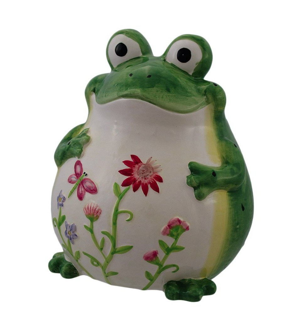 Adorable Ceramic Frog Coin Bank