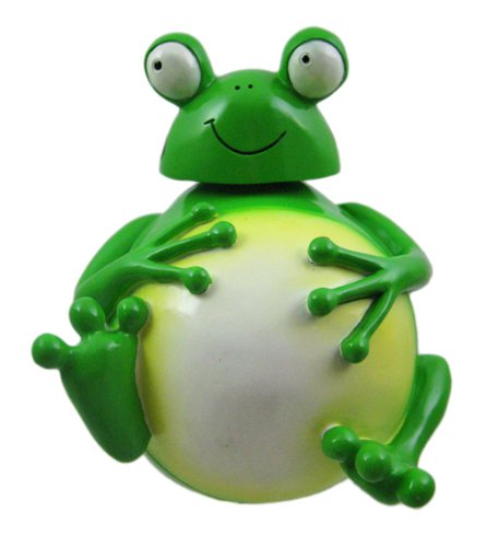 funny frog bobble head money bank