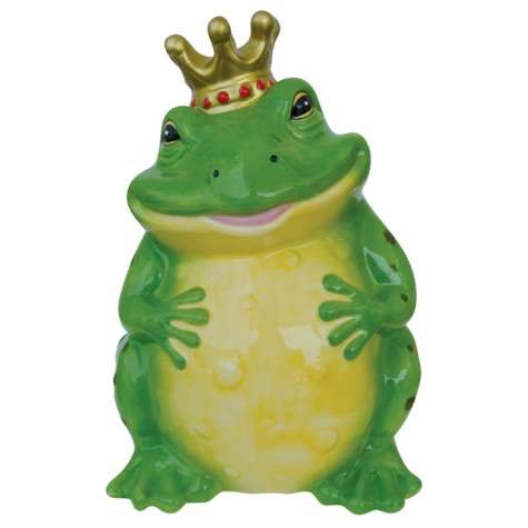 Cute Prince Frog Piggy Bank