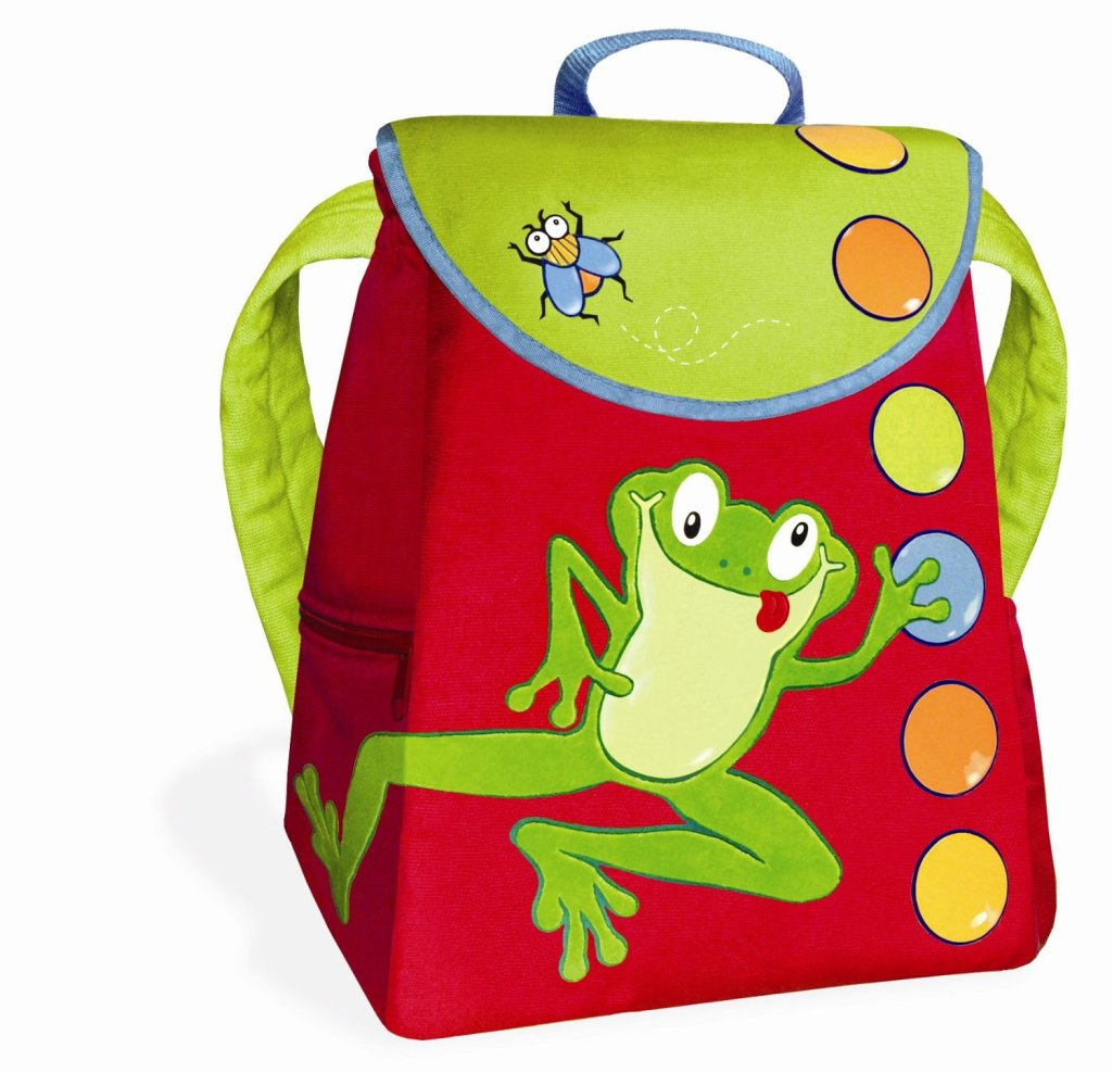 colorful frog backpack