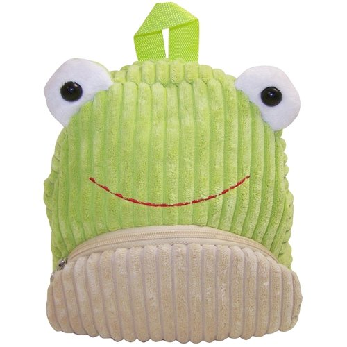 Very Soft Cute Frog Corduroy Backpack