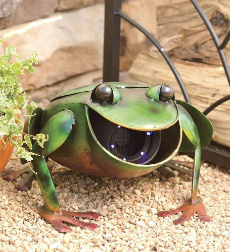 fun metal frog garden sculptures