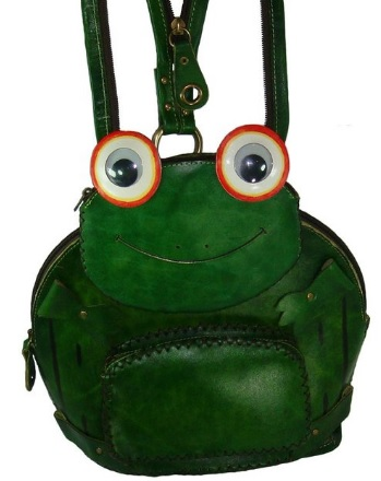 Unique Leather Frog Backpack