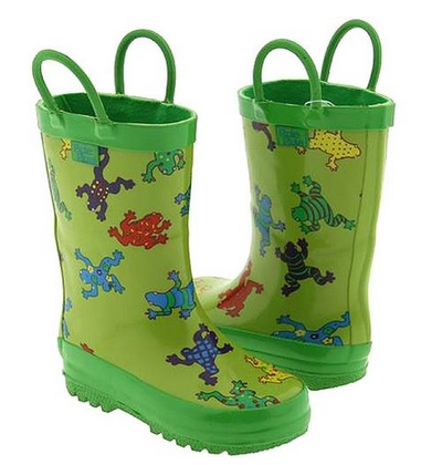 Colorful Frogs Rain Boots