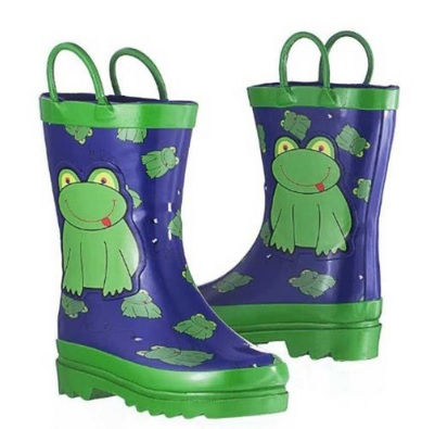 Little Boy's Green Frog Rain Boots