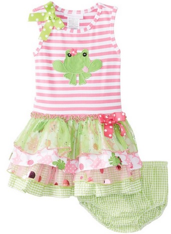cute frog dress for baby girls
