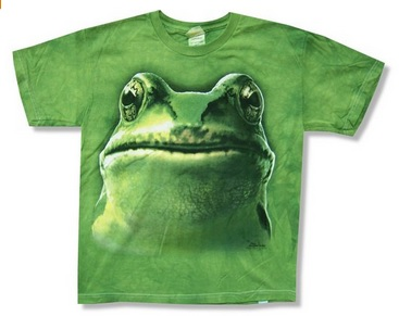 Frog Face Tie Dye T-Shirt for Boys