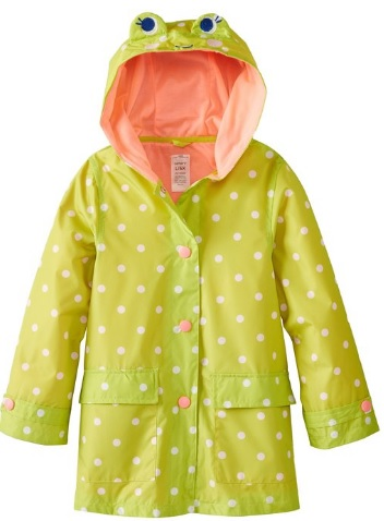 Cute Frog Raincoat for Girls