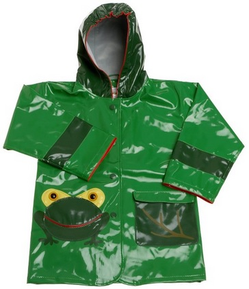Cute Frog Raincoat for Boys