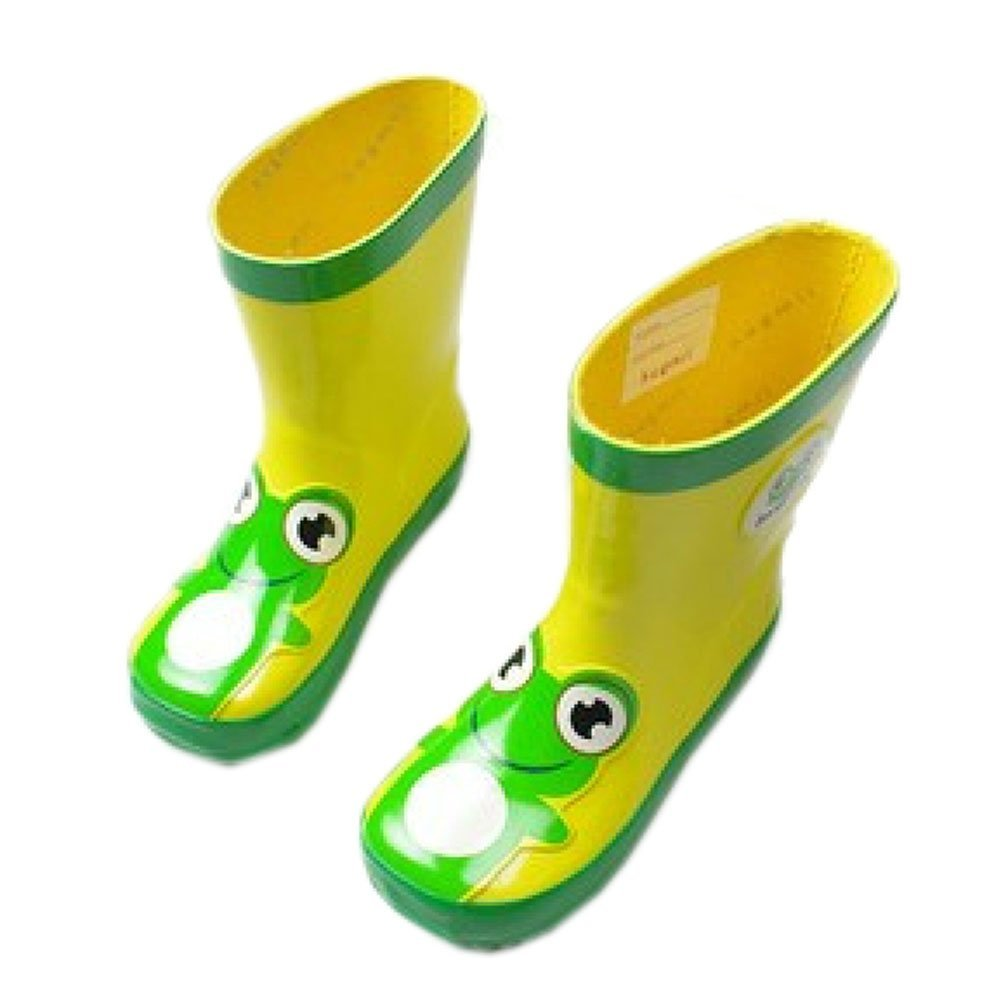 Yellow and Green FROG Toddler Rain Shoes
