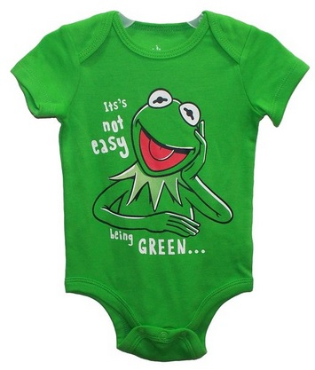 Kermit The Frog It's Not Easy Being GREEN Baby Bodysuit