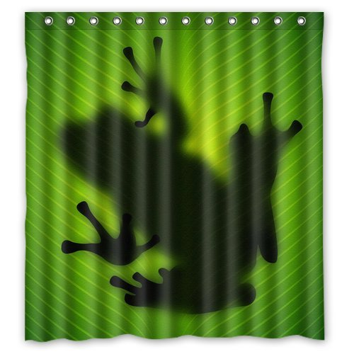 Cool Frog Shadow Shower Curtain