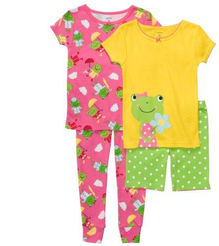 Adorable 4-piece Frog Pajamas for Girls