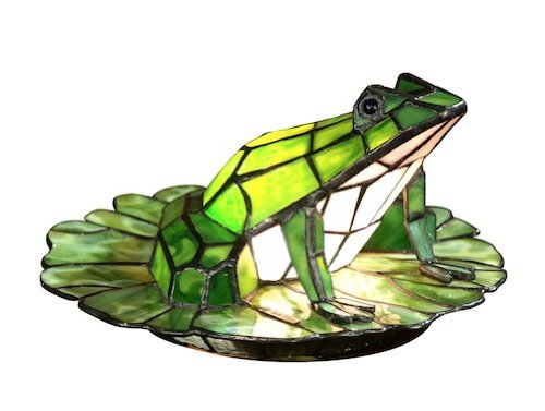 Cute Stained Glass Frog Shape Lamp