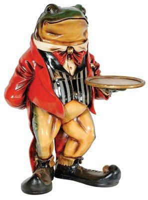 Frog Butler Statue