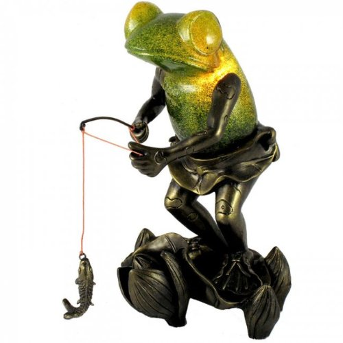 Fishing Frog Table Lamp