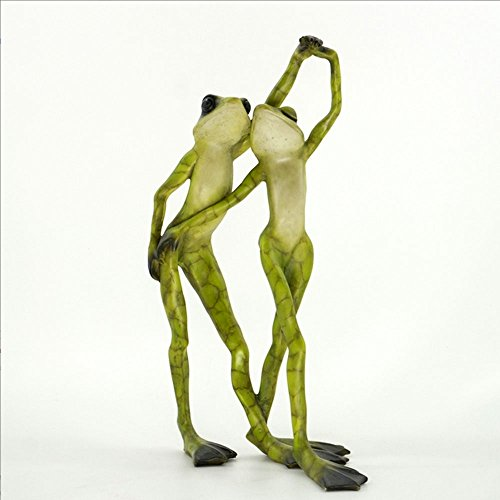 Cute and Romantic Frog Couple Dancing Figurine