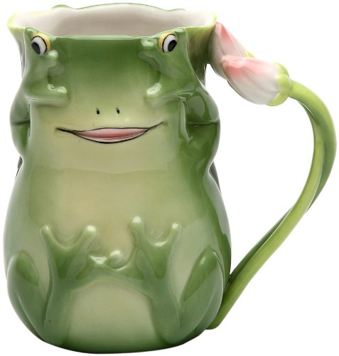 Cute Fairy Frog Porcelain Mug