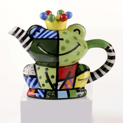 Gorgeous Romero Britto Mini Frog Teapot