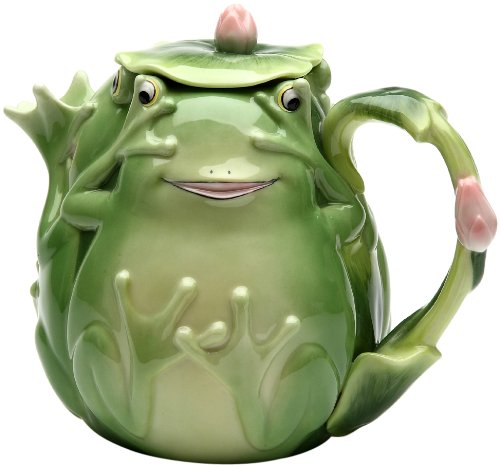 Adorable Fairy Frog Porcelain Teapot