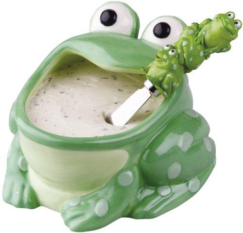 Fun Frog Dip Bowl and Spreader Set