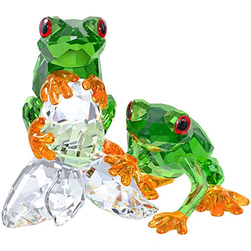 Beautiful Swarovski Frogs Crystal Figurine