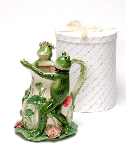 Beautiful Frog Couple Dancing Ceramic Pitcher