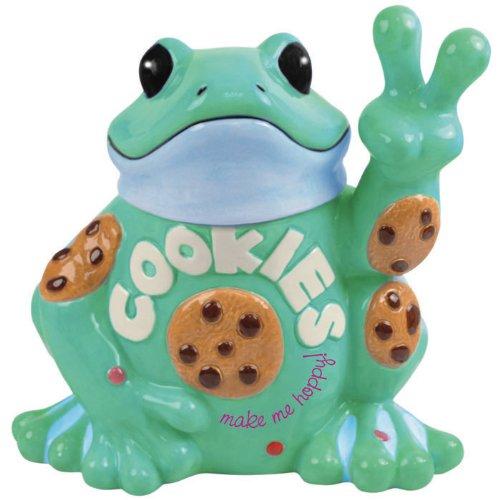 Fun Peace Frog Cookie Jar