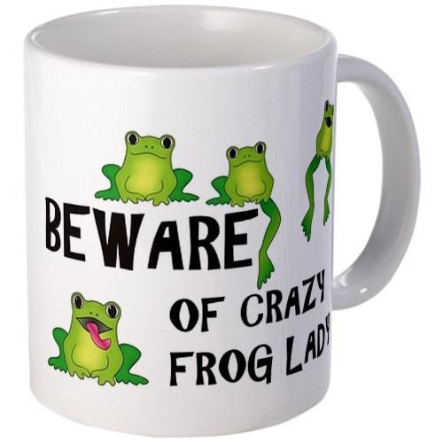 fun frog theme coffee mugs