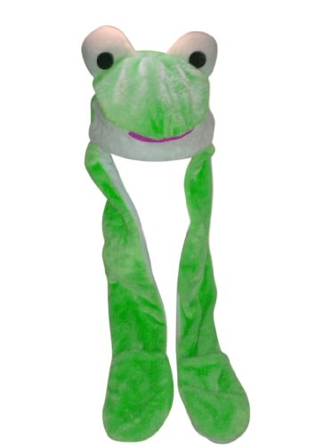 Soft Green Frog Pocket Hat with Long Arms
