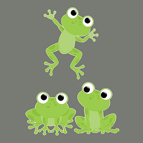 Cute Frogs Removable Wall Decals