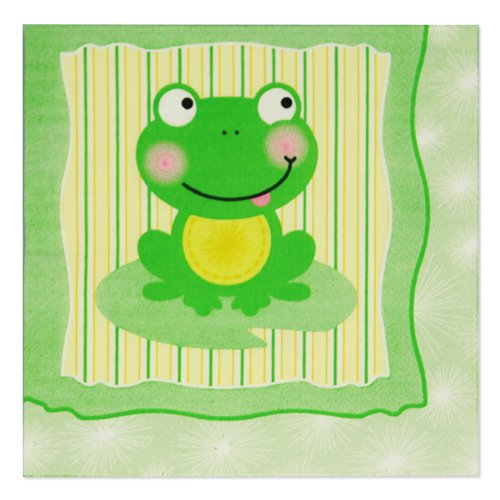 Froggy Frog Luncheon Napkins