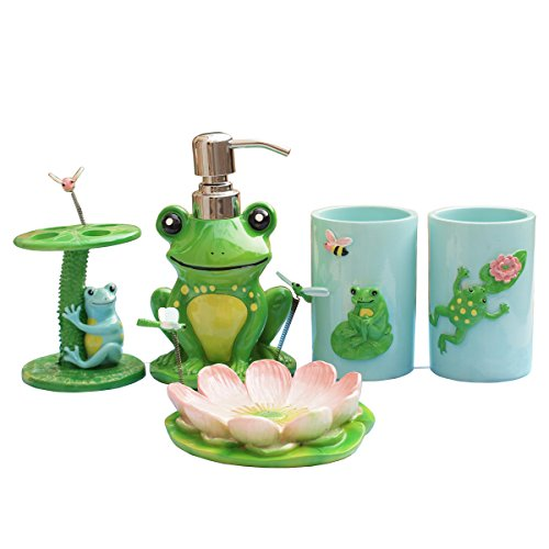 Cutest frog bathroom decor for Cute bath accessories