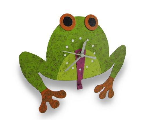 Tree Frog Wall Clock with Pendulum Tongue