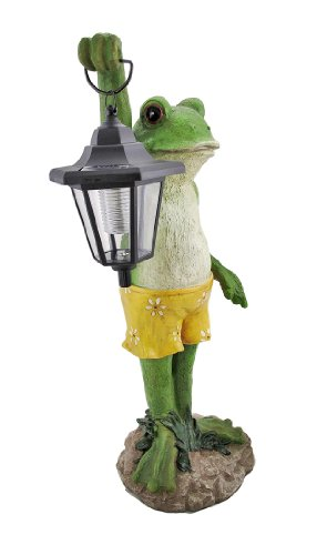 Cool Standing Frog Outdoor Solar Lamp