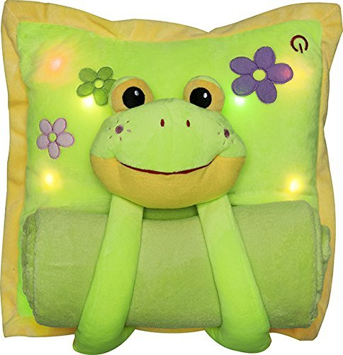 adorable musical frog pillow for babies