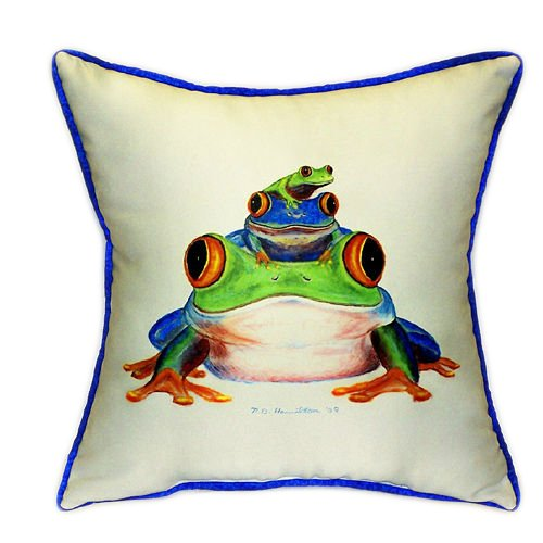 fun frogs design pillow