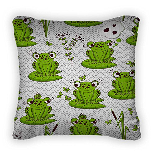 Cute Frogs Throw Pillow